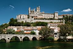 Panoramic view in Beziers, France Royalty Free Stock Image