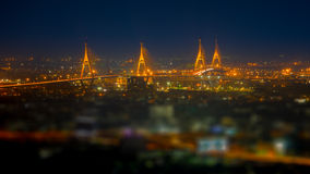Panoramic view of the  Bhumibol Bridge Stock Photography