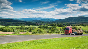 Panoramic view of Bieszczady mountains, Poland Royalty Free Stock Photography