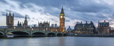 Panoramic view of Big Ben Stock Photo