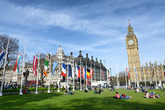 Panoramic view of Big Ben and Parliament Stock Images