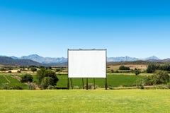 Panoramic view of big blank billboard in nice scenery Stock Photo