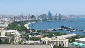 Panoramic View of a Big City Megalopolis by the Sea at Summer Day. TimeLapse stock video footage
