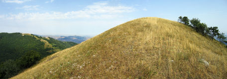 Panoramic view of big hill. Crimea, Ukraine Royalty Free Stock Photo