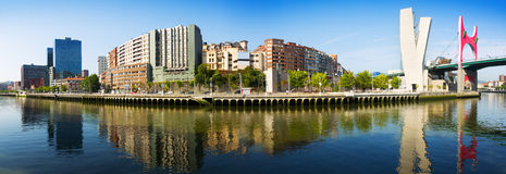 Panoramic view of Bilbao Royalty Free Stock Photo