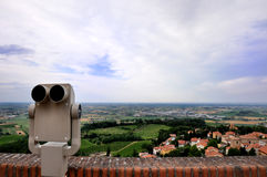Panoramic view with binocular Royalty Free Stock Photos