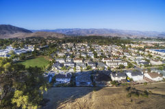 Panoramic view from the Bishop Peak of San Louise Obispo , California, USA. Panoramic view  of San Louise Obispo, California Stock Photography