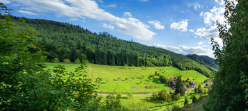 Panoramic view of the black forest in Baden-Baden. Royalty Free Stock Images