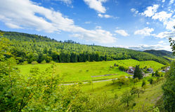 Panoramic view of the black forest in Baden-Baden. Royalty Free Stock Photos