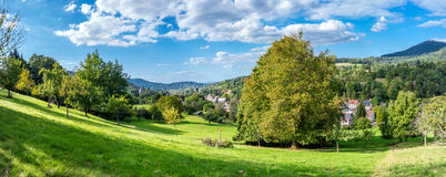 Panoramic view of the black forest in Baden-Baden. Stock Images