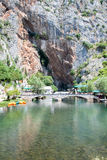 Panoramic view on  Blagaj Buna river Royalty Free Stock Images