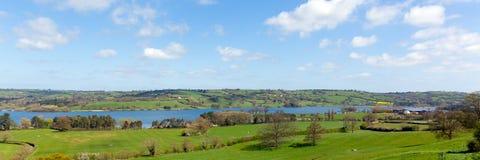 Panoramic view of Blagdon Lake Somerset England UK south of Bristol Royalty Free Stock Photography