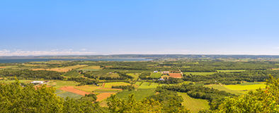 A panoramic view from the Blomidon park look off Royalty Free Stock Images