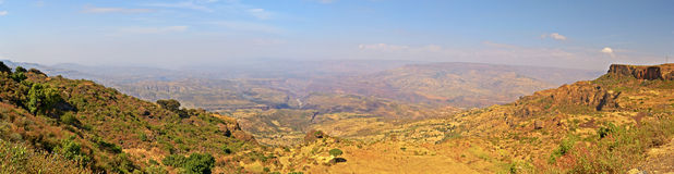 Panoramic view of Blue Nile valley Stock Image