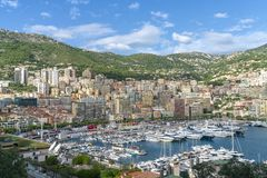 La Condamine Principality of Monaco stock photography