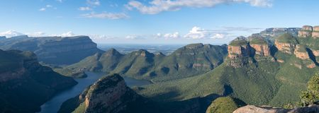 Panoramic view of the Blyde River Canyon on the Panorama Route, Mpumalanga, South Africa royalty free stock image