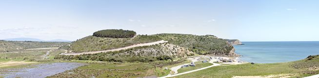 Panoramic view at Boca de Rio Portugal Royalty Free Stock Photos
