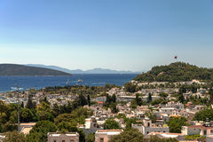 Panoramic view on the Bodrum, Turkey Royalty Free Stock Image
