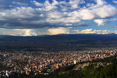 Panoramic view of Bogota City Stock Photography