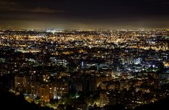 Panoramic View of Bogota, Colombia, at Night. Picture Taken from stock photo