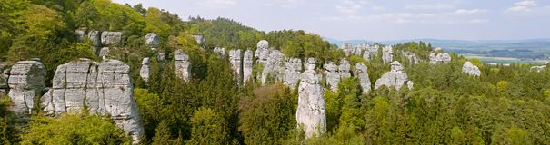 Panoramic view of Bohemian Paradise Royalty Free Stock Images