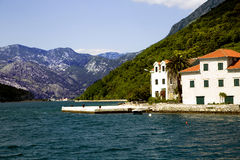 Panoramic view of Boka Kotorska Bay Royalty Free Stock Images