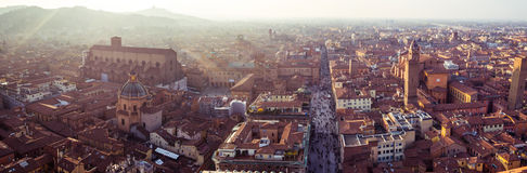 Panoramic view of Bologna city Stock Photo