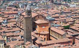 Panoramic view of Bologna. Emilia-Romagna. Italy. Royalty Free Stock Image