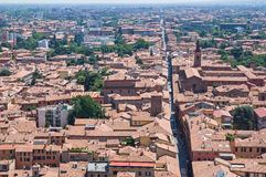 Panoramic view of Bologna. Emilia-Romagna. Italy. Royalty Free Stock Photos