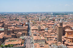 Panoramic view of Bologna. Emilia-Romagna. Italy. Stock Images