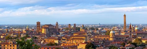 Panoramic view of Bologna - Italy. A panoramic view of Bologna, italy Stock Image