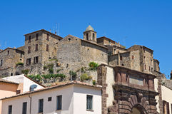 Panoramic view of Bolsena. Lazio. Italy. Royalty Free Stock Photo