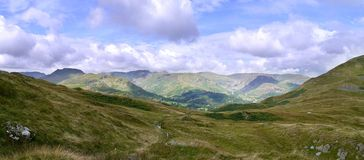 Panoramic view from Boredale Hause, Lake District Stock Images