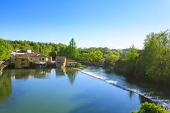 Panoramic view of Borghetto, Valeggio sul Mincio, Italy Stock Photography