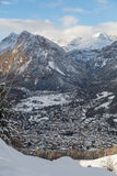 Panoramic view of bormio, italy Stock Photos