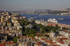 Panoramic view of Bosphorus from Galata Tower Royalty Free Stock Photo