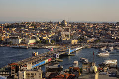 Panoramic view of Bosphorus from Galata Tower Stock Photos