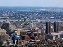 Panoramic view of Boston, USA Royalty Free Stock Photos