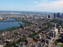 Panoramic view of Boston USA Royalty Free Stock Photos