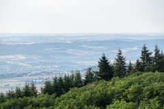 Panoramic view of Bourgogne. Burgundy, France. royalty free stock photo