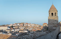Panoramic view of Bovino. Apulia. Italy. Stock Image
