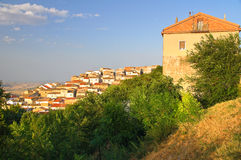 Panoramic view of Bovino. Puglia. Italy. Royalty Free Stock Images