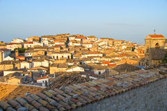 Panoramic view of Bovino. Puglia. Italy. View of Bovino. Puglia. Italy stock photo