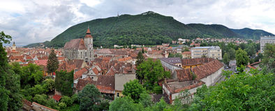 Panoramic view of Brasov city, Romania Royalty Free Stock Photos