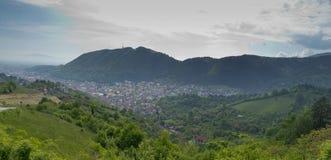 Panoramic view Brasov Romania Royalty Free Stock Photos