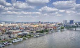 Panoramic View of Bratislava, Capital city of Slovakia stock photos