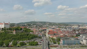 A panoramic view of Bratislava stock video footage
