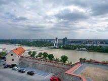 Stormy weather over Bratislava royalty free stock photo