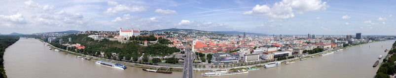 Panoramic view of Bratislava. Old Town royalty free stock photography