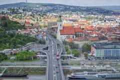 Panoramic View of Bratislava,Slovakia stock photos